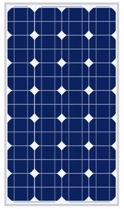 70W太阳能电池组件,太阳能电池板,单晶